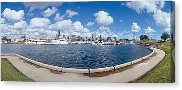 Chicago Harbor, Illinois Canvas Print by Panoramic Images