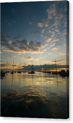 Chicago Harbor Sunrise Canvas Print by Steve Gadomski