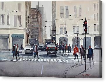 Chicago Impressions Canvas Print by Ryan Radke