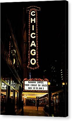 Chicago Limelights Canvas Print by Miranda  Miranda