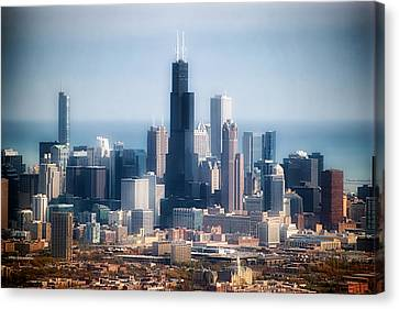 Chicago Looking East 02 Canvas Print by Thomas Woolworth