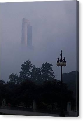 Chicago Mist Canvas Print by Anna Villarreal Garbis