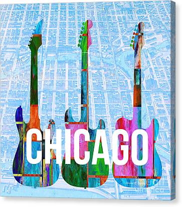 Chicago Music Scene Canvas Print by Edward Fielding