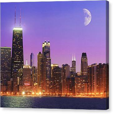 Chicago Oak Street Beach Canvas Print by Donald Schwartz