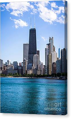 Chicago Photo Of Skyline And Hancock Building Canvas Print by Paul Velgos