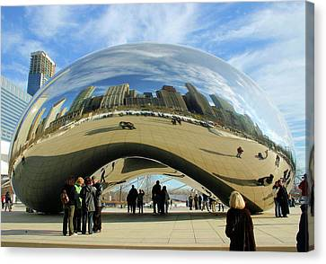 Chicago Reflected Canvas Print by Kristin Elmquist