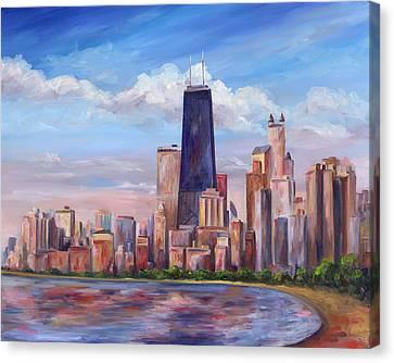 Chicago Skyline - John Hancock Tower Canvas Print by Jeff Pittman