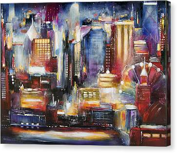 Chicago Skyline From Navy Pier Canvas Print by Kathleen Patrick