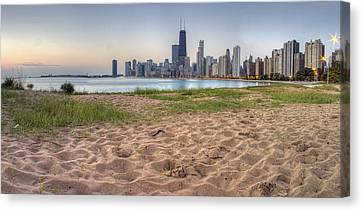 Chicago Skyline From North Beach Canvas Print by Twenty Two North Photography
