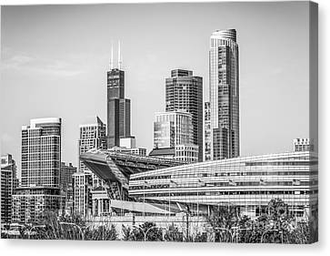 Chicago Skyline With Soldier Field And Willis Tower  Canvas Print by Paul Velgos