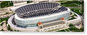 Chicago Soldier Field Aerial Photo Canvas Print by Paul Velgos