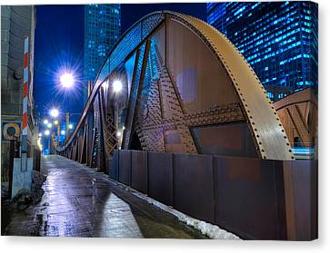 Chicago Steel Bridge Canvas Print by Steve Gadomski