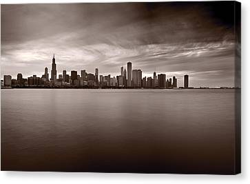 Chicago Storm Canvas Print by Steve Gadomski
