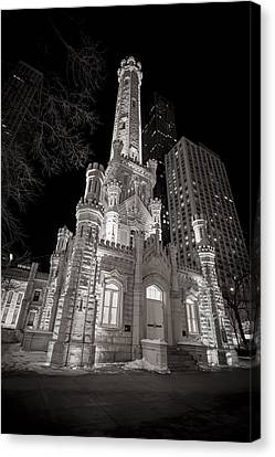 Chicago Water Tower Canvas Print by Adam Romanowicz