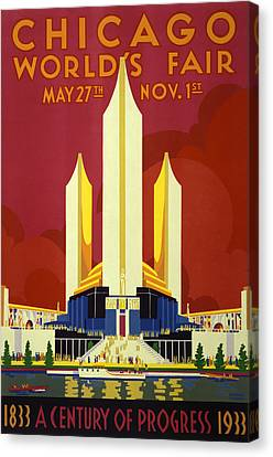 Chicago World's Fair - 1933 Canvas Print by War Is Hell Store