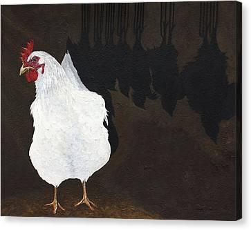 Chicken Shadow Canvas Print by Twyla Francois