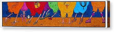 Chicken Walk Canvas Print by Michele Sleight