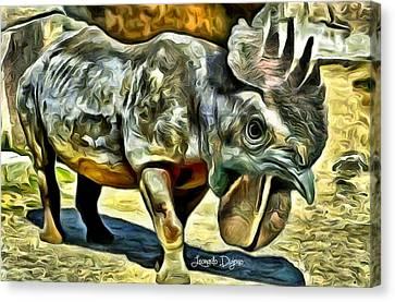 Chickensauro - Da Canvas Print by Leonardo Digenio