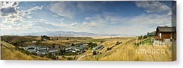 Chico Hot Springs Pray Montana Panoramic Canvas Print by Dustin K Ryan