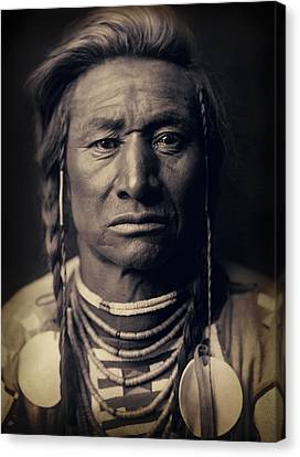 Chief Child Of The Crow Nation 1908 Canvas Print by Daniel Hagerman