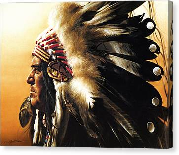 Chief Canvas Print by Greg Olsen