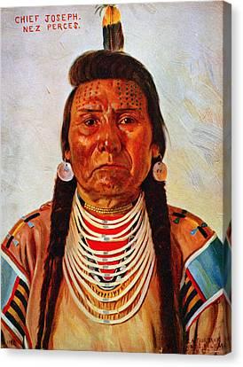 Chief Joseph, Nez Perc� Chief Canvas Print by Everett