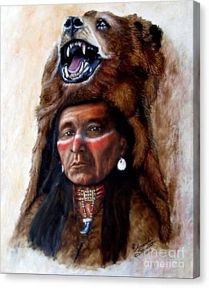 Chief Running Bear Canvas Print by Amanda Hukill
