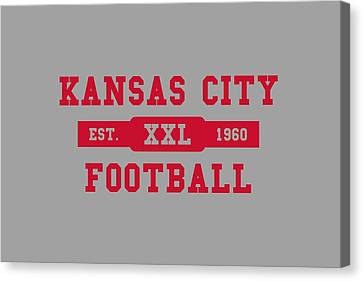 Chiefs Retro Shirt Canvas Print by Joe Hamilton