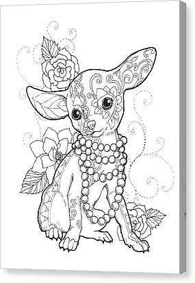 Chihuahua Chic Canvas Print by Cindy Elsharouni