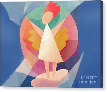 Child Angel Canvas Print by Lutz Baar