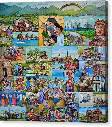 Childhood Memories Of My Mother Country Pilipinas Canvas Print by Andre Salvador