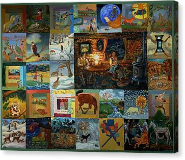 Childhood Quilt Canvas Print by Dawn Senior-Trask