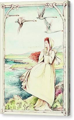 Children Of Llyr Canvas Print by Morgan Fitzsimons