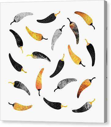 Chili Peppers Canvas Print by Elisabeth Fredriksson