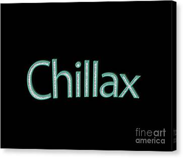 Chillax Tee Canvas Print by Edward Fielding