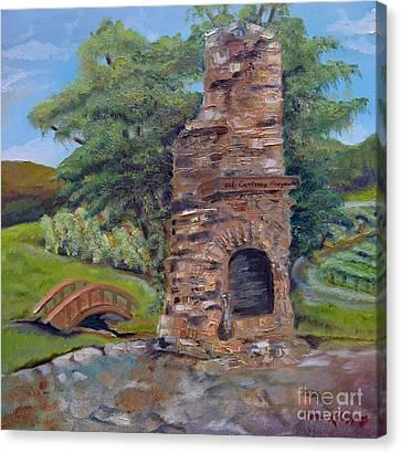 Chimney Love -cartecay Vineyards - Ellijay Ga Canvas Print by Jan Dappen