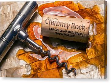 Chimney Rock Uncorked Canvas Print by Jon Neidert