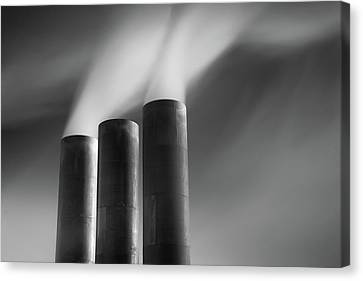 Chimneys Billowing Canvas Print by Mark Voce Photography