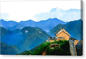 China Great Wall  Canvas Print by Lanjee Chee