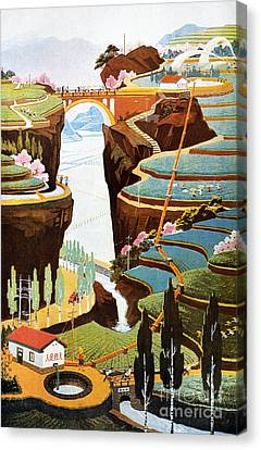 China: Poster, 1975 Canvas Print by Granger