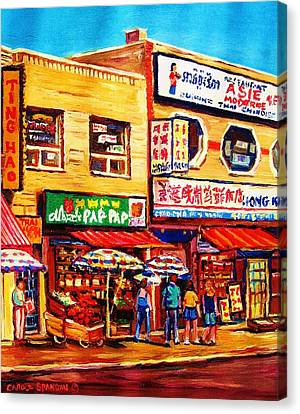 Chinatown Markets Canvas Print by Carole Spandau