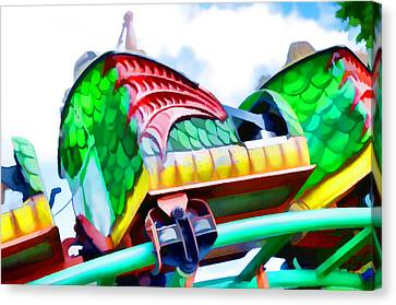 Chinese Dragon Ride 4 Canvas Print by Lanjee Chee