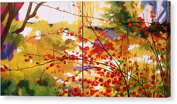 Chinese Garden Grace Canvas Print by Melody Cleary