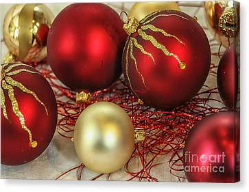 Chirstmas Ornaments Canvas Print by Patricia Hofmeester