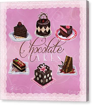 Chocolate Cakes Canvas Print by Shari Warren