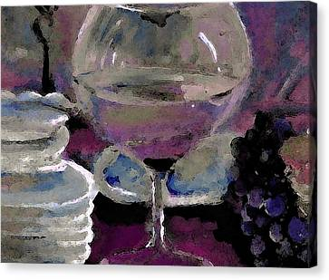 Chocolate Pie And Wine Canvas Print by Lisa Kaiser