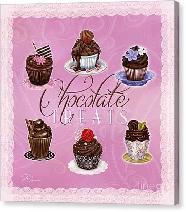 Chocolate Treats Canvas Print by Shari Warren