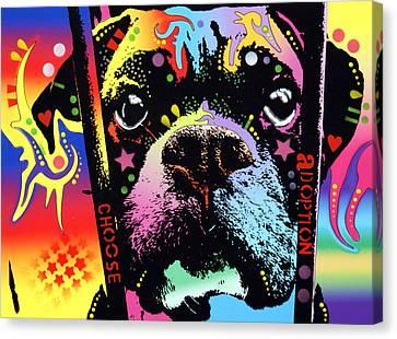 Choose Adoption Boxer Canvas Print by Dean Russo