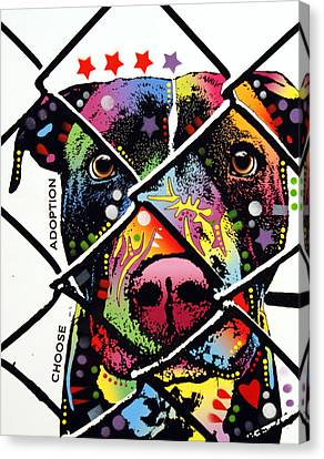 Choose Adoption Pit Bull Canvas Print by Dean Russo