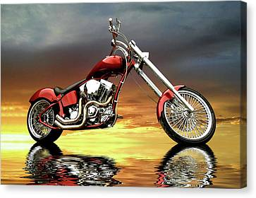 Chopper Canvas Print by Steven Agius